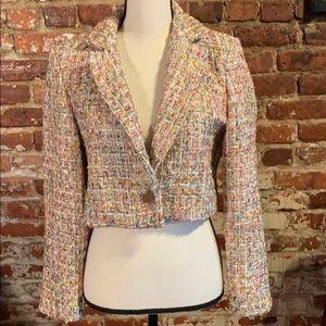 Top Shop Tweed like cropped blazer US8
